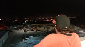 Looking out on LA